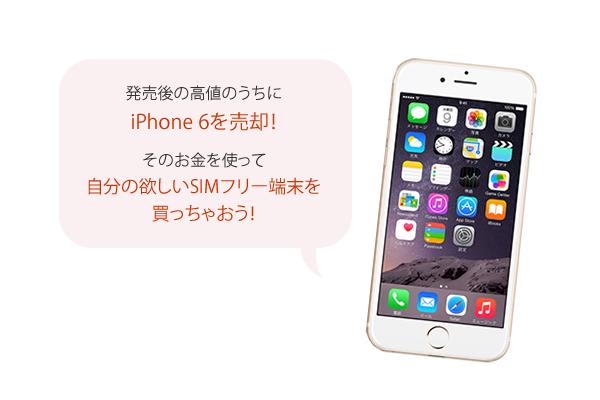 発売後の高値のうちにiPhone 6を売却!そのお金を使って自分の欲しいSIMフリー端末を買っちゃおう!